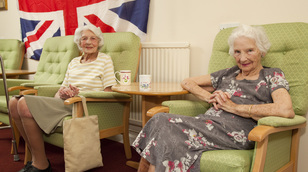 Residents at Highlever dementia care home